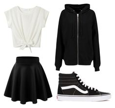 """needed outfit 2 !"" by mmaddiee17 on Polyvore featuring Vans and BLK DNM"