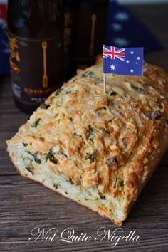 No Knead Cheese & Onion Beer Bread