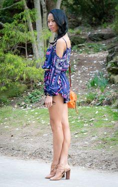 BlasianGurl, Victoria Kristine, Romper, Fashion Blogger, Toronto Blogger, Romping Around, Summer Look, Playsuit