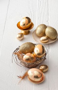 Easter crafts: How to make Golden Easter Eggs