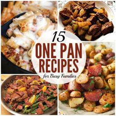 ~ One pan recipes
