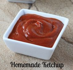 Easy Homemade Ketchup recipe made in the Vitamix