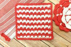 Free Crochet Dishcloth Pattern #crochet #dishcloth #washcloth