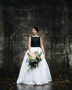 Our real bride, Amanda in T673 for her edgy, cool Ontario wedding