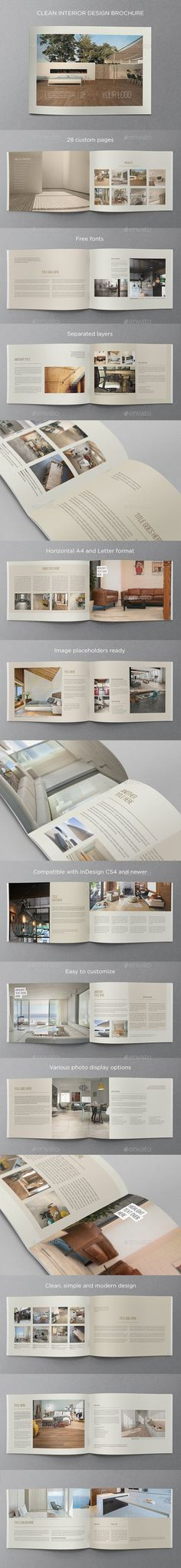 Portfolio Brochure Template Brochure template, Brochures and - interior design brochure template