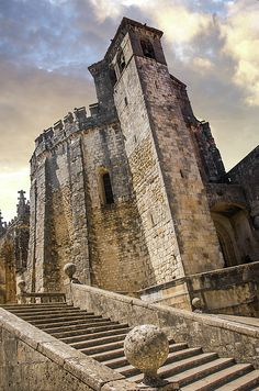 Convent Of Christ in Tomar by Carlos Caetano Rules Of Composition, Knights Templar, Barcelona Cathedral, Monument Valley, Medieval, Portugal, Christ, America, Fine Art