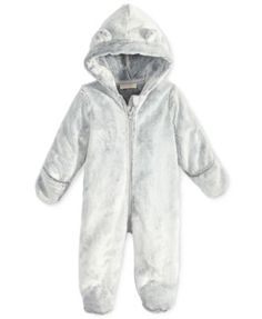 ba41480bb First Impressions Faux-Fur Bear Footed Snowsuit, Baby Boys (0-24 months
