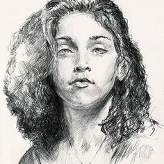#Madonna Miss Ciccone young #Drawing by @ritrattoartisticodautore