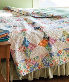 Periwinkle - looks like some vintage sheets used ...