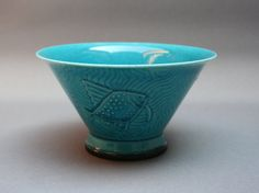 BING and GRONDAHL rare blue turquoise antique glazed porcelain dish . China cup…