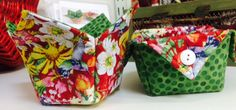 Collapsible Fabric Scrap Bucket in 2014 MN Shop Hop Fabric- Kits Still Available