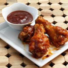 Saucy Jack Daniel's Barbecue Chicken Drumettes Recipe Appetizers with chicken…