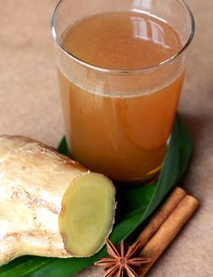 Bandrek: made from ginger, cinnamon sticks and cloves & lemongrass, simmered in hot water & sweetened with sugar, strained, and mixed with milk or coconut milk