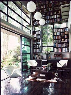 Fabulous bookcases and glass library (FREDAGSINSPIRASJON)