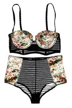 Floral Lingerie #floral #lingerie