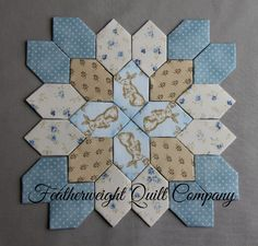 Lucy Boston Patchwork of the Crosses Block kit# 64 by FeatherweightQuiltCo on Etsy (null)