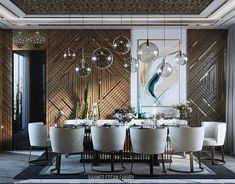 Dinning Table Design, Dining Area, Modern Interior Design, Modern Interiors, Interior Architecture, Dining Room Walls, Living Room, Luxury Dining Room, Hall Design