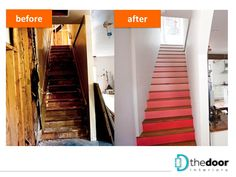 Makeover of a flight of stairs, with creative use of paint: http://on.fb.me/1k4MBhw