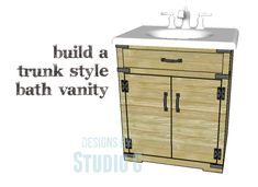 DIY Plans to Build a Trunk Style Bath Vanity