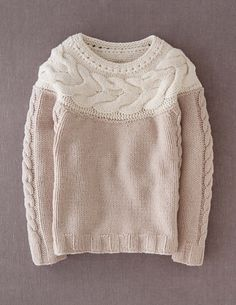 Handknit Cable Sweater WK899 Sweaters at Boden