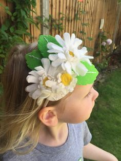 DIY daisy headband f