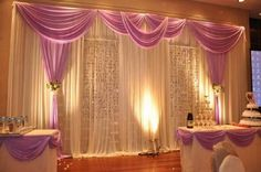 wedding pipe and drape curtains | DIY pipe and drape highlight the atmosphere