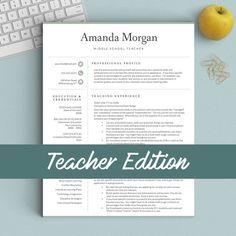 Resume Templates For Teachers Teacher Resume Template For Word & Pages 1 2Landeddesignstudio .