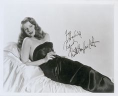 Rita Hayworth signed photo as Gilda