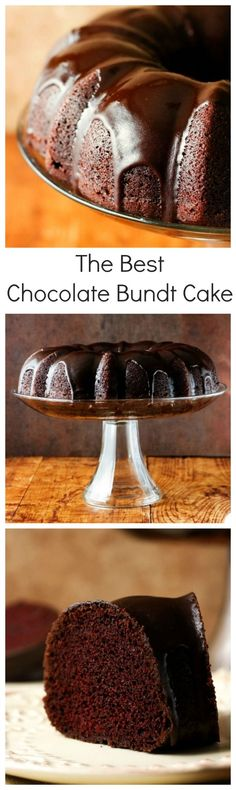 The Best Chocolate Bundt Cake – absolutely perfect chocolate bundt cake with an easy chocolate glaze! You will love this one-bowl recipe that does not require eggs for the batter and mixer to make it!