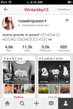 Plz go follow tumblr queen she has awesome pins