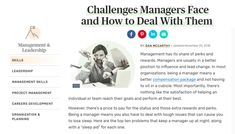 Being a manager means you'll face tough issues that can cause you to lose sleep. How to deal with the top problems that keep a manager up at night. Lead Change, Best Positions, Leadership, Management, Challenges, Face, The Face, Faces, Facial
