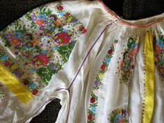 have worn many. Simple Dresses, Nice Dresses, Gold Chevron, Embroidery Motifs, Ethnic Outfits, Satin Stitch, Folk Costume, Peasant Blouse, Sheer Fabrics