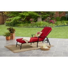 Buy Mainstays Belden Park Cushion Chaise Lounge At Walmart.com. Chaise  Lounge OutdoorOutdoor Lounge FurnitureChaise ...