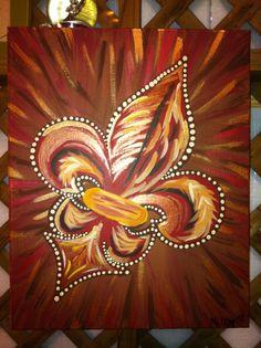 Bronze Burst Fleur De Lis -Peace Of Art by MelKay (I take orders!)