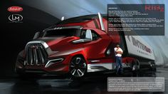 prototype semi trucks | Peterbilts of the Future! Peterbilt teams up with The Forge to create ...