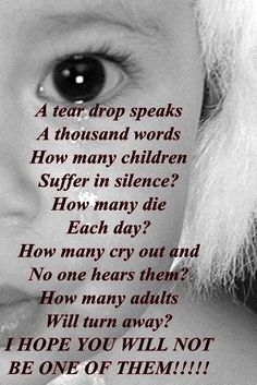 Child abuse...I think this is the most over looked problem in this country! Just Pick Up The Phone and Dial 911 Now and Stop The Abuse Please For All Those Little Ones