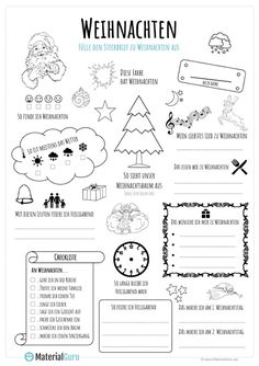 weihnachten kindergarten A free worksheet for Christmas, on which the children should fill out a Christmas fact sheet in a playful way. Portfolio Kindergarten, Kindergarten Lesson Plans, Kindergarten Math Worksheets, Primary School, Elementary Schools, Christmas Worksheets, Learn German, Free Printable Worksheets, School Lessons