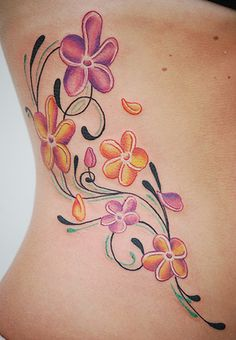 plumeria tattoos | And Plumeria Flowers May Work Well For A Full Sleeve Tattoo Design As