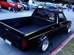 Vw Rabbit Pickup, Vw Pickup, Volkswagen Golf Mk1, Vw Mk1, Bagged Trucks, Mini Trucks, Vw Cady, Vw Polo Modified, Vw Caddy Mk1