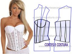 Slimming White Bodice
