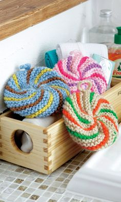 Crochet-could be used for facial scrubby or kitchen scrubby