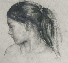 Drawing by Nikolai Blokhin Russian Artist. Figure Sketching, Portrait Drawing, Artist Inspiration, Drawing People, Art Drawings, Portraiture, Art, Portrait, Portrait Art