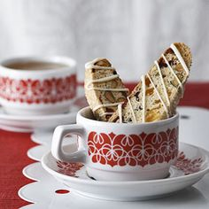For an easy gift, team these homemade low-fat Italian cookies with a bag of coffee beans and a pretty mug. Or enjoy them yourself for dessert/dcc