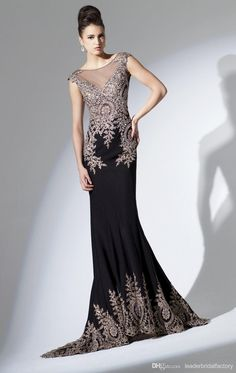 Cheap Evening Dresses - Discount 2015 Black Crystal Evening Dresses Sheer Back Mermaid Online with $141.37/Piece | DHgate