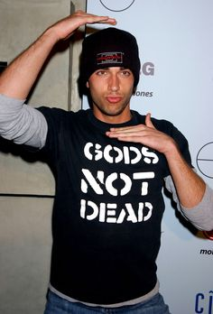 Zachary Levi ....love his shirt! It's so awesome (haha, Captain Awesome) that he's a Christian!