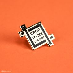 Crop It Enamel Lapel Pin – AD Aesthetic