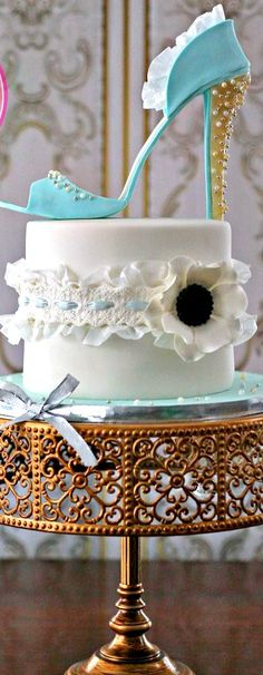 High Heel & Garter Cake