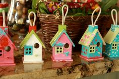 Birdhouse painting activity for young guests