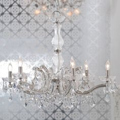 crystal chandelier- clear : brocade home $699
