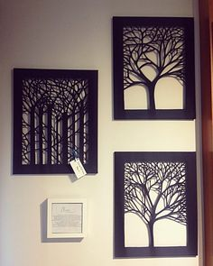 Canvas Cut Trees---I cut a canvas with a laser cutter. Unique handmade art for your home by CanvasArtOnline Diy Canvas Art, Canvas Crafts, Diy Wall Art, Diy Art, Home Crafts, Diy And Crafts, Paper Crafts, Cut Out Canvas, Motif Arabesque